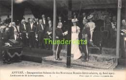 CPA  ANVERS INAUGURATION SOLENNELLE DES NOUVEAUX BASSINS INTERCALAIRES 15 AOUT 1907 ANTWERPEN - Antwerpen