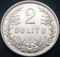 Lithuania 2 Litai 1925 AXF Ag - Lithuania