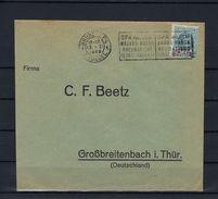 N°248 GESTEMPELD OP OMSLAG VAN Bruxelles NAAR Deutschland COB € 15,00 SUPERBE - 1922-1927 Houyoux