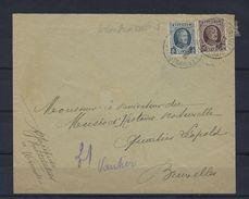 N°193+196 (ntz) GESTEMPELD AMBULANT Arlon-Bruxelles1 OP OMSLAG - 1922-1927 Houyoux