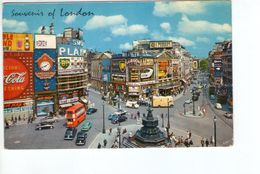 U1141 Nice Small Postcard: London, Piccadilly Circus + Bus Autobus, Auto Cars Voitures _ WRITED - Piccadilly Circus