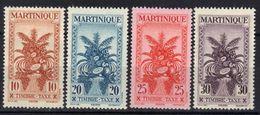 Martinique Timbres Taxe N° 23 - 26 * - Martinica (1886-1947)