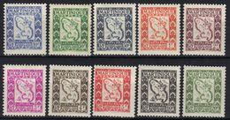 Martinique Timbres Taxe N° 27-36 * - Martinica (1886-1947)