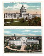 ETATS-UNIS . WASHINGTON D. D. . 2 CARTES POSTALES - Réf. N°6652 - - Washington DC