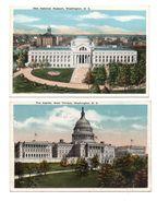 ETATS-UNIS . WASHINGTON D. D. . 2 CARTES POSTALES - Réf. N°6653 - - Washington DC