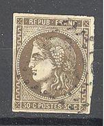 France:Yvert N° 47°; Beau D'aspect Mais Avec Un Clair; Cote 250.00€ - 1870 Bordeaux Printing
