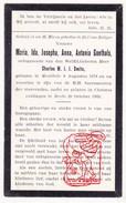 DP Adel Noblesse Maria Ida J. Goethals ° Meulebeke BE 1878 † Breda NL NB 1933 X Charles Marie Jean Smits - Devotieprenten