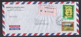 Honduras: Registered Airmail Cover To Germany, 1973, 2 Stamps, Molina, Poet, Statue, Label, Rare Use (roughly Opened) - Honduras