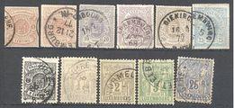 Luxembourg: Lot 11 Valeurs A étudier - 1859-1880 Wappen & Heraldik