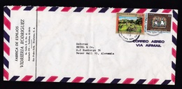 Honduras: Airmail Cover To Germany, 1975, 2 Stamps, Statues, Children, Red Overprint, Rare Real Use (minor Fold) - Honduras