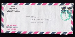 Honduras: Airmail Cover To Netherlands, 1985, 2 Stamps, Cocesna, Map, Logo (roughly Opened) - Honduras