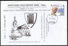 Croatia Virje 2003 / Municipality Virje Day / A Tribute To The Flag And Coat Of Arms / Feast Of St. Martin / Church - Christianity
