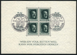 GERMANY: Sc.B104, 1937 Hitler, With Special Nazi Postmark, VF Quality! - Germany