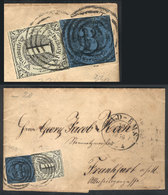 GERMANY: Entire Letter Sent From BAD EMS To Frankfurt On 30/MAY/1856, Nice Postage! - Germany