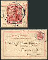 GERMANY: Card Sent From Hamburg To Buenos Aires On 14/OC/1909, Franked With A Stam - Unclassified