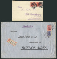 GERMANY: 2 Covers Sent To Argentina In MAY And AUG/1912, One Registered, Fine Quali - Germany