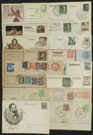 GERMANY: Lot Of 21 Cards, Many Used, Most Are Postal Stationeries With Interesting - Unclassified