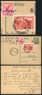 GERMANY: 5Pf. Postal Card Uprated With 10Pf. And Posted At Sea From Ship CUBA To Be - Germany