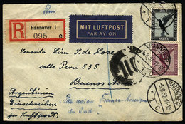 GERMANY: Registered Airmail Cover Sent From Hannover To Argentina On 5/AU/1932 By A - Germany