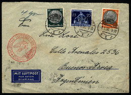 GERMANY: Airmail Cover Sent From Hannover To Argentina On 8/AU/1936 With Handsome P - Unclassified