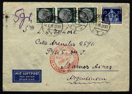 GERMANY: Airmail Cover Sent From Hannover To Argentina On 1/SE/1936 With Nice Posta - Germany