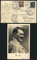 GERMANY: Postcard With View Of Hitler, Sent From Nürnberg To Argentina On 11/SE/193 - Germany