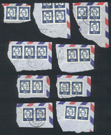 GERMANY: Michel 355, 9 Horizontal Pairs Used On Fragments Of Covers, VF Quality, Mi - Unclassified