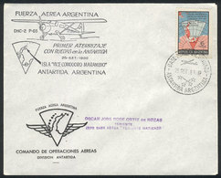 """ANTARCTICA: 25/SEP/1969: Special Cover Commemorating The """"First Landing On Wheels - Stamps"""