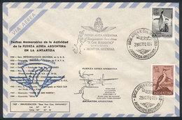 ANTARCTICA: 29/OCT/1969: First Flight Río Gallegos-Comodoro Marambio Base, Fokker F - Stamps