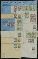 ARGENTINE ANTARCTICA: 11 Covers Or Cards With Postmarks Of ORCADAS DEL SUR Antarcti - Argentina
