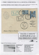 ARGENTINE ANTARCTICA: 10/SE/1964 Cover Sent On The First Military Flight To Antarct - Argentina
