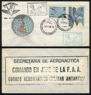 ARGENTINE ANTARCTICA: 15/SE/1965: Cover Carried On First Military Airmail Flight To - Argentina