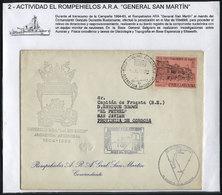 ARGENTINE ANTARCTICA: 12/JA/1965: Icebreaker General San Martín, Cover With Special - Argentina