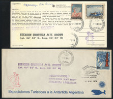 ARGENTINE ANTARCTICA: Cover And PC With Nice Postmarks Of Years 1969/1972, VF Quali - Argentina