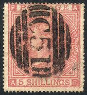 "DANISH ANTILLES: Sc.A32, British Stamp  Sc.57 Plate 1 With ""C51"" Cancel Of Briti - Denmark (West Indies)"