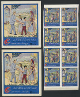 ALGERIA: FIGHT AGAINST TUBERCULOSIS: Lot Of 8 Cinderellas + 2  Window Labels, Excel - Algeria (1962-...)