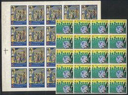 ALGERIA: FIGHT AGAINST TUBERCULOSIS: 2 Interesting Complete Sheets Of Cinderellas, - Algeria (1962-...)