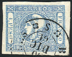 ARGENTINA: GJ.17A, 1P. LIGHT MILKY Blue, Beautiful Stamps Of Very Wide Margins And - Buenos Aires (1858-1864)