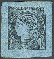 ARGENTINA: GJ.1, Un Real MC, Mint No Gum, Very Ample Margins, Excellent Quality, Ca - Corrientes (1856-1880)