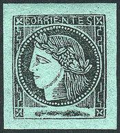 ARGENTINA: GJ.5, Bluish Green, Mint Full Original Gum (+50%) Very Lightly Hinged, S - Corrientes (1856-1880)