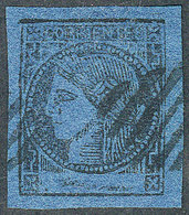 ARGENTINA: GJ.7, Dark Blue, Example Of Excellent Quality! - Corrientes (1856-1880)