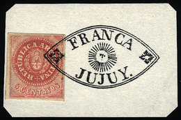 """ARGENTINA: GJ.7b, 5c. Rose With Accent, """"8 Cut Angles"""" Variety, With The Very Ra - Argentina"""