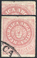 """ARGENTINA: GJ.7c, 5c. With Accent, With """"incomplete Impression At Top"""" Variety ( - Argentina"""