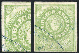"""ARGENTINA: GJ.11, 10c. Without Accent Over The U, Very Interesting """"REPUBLECA"""" V - Argentina"""