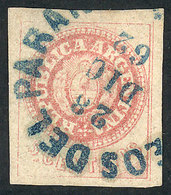 ARGENTINA: GJ.14, 5c. Worn Plate, Very Wide Margins, With Rimless Datestamp Of PARA - Argentina