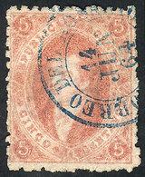 ARGENTINA: GJ.19, 2nd Printing, Worn Impression, Used In Rosario On 11/JUN/1864, Su - Argentina