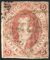 ARGENTINA: GJ.19, 1st Or 2nd Printing, With The Extremely Rare SALAVINA C.M. Cancel - Argentina