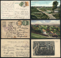 UKRAINE: 3 Postcards Used Between 1914 And 1917, With Nice Views And Interesting Ca - Ukraine
