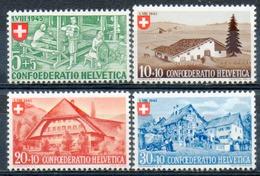 SUISSE - (Postes Fédérales) - 1945 - N° 419 à 422 - (Fête Nationale. Emis Au Profit Des Mères Nécessiteuses) - Suisse