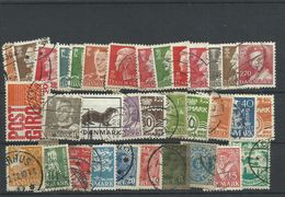 Denmark - Bulk Lot Of 34 Used Stamps - Pkt. 48 - Danimarca